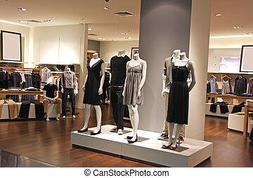 mode, vente au détail