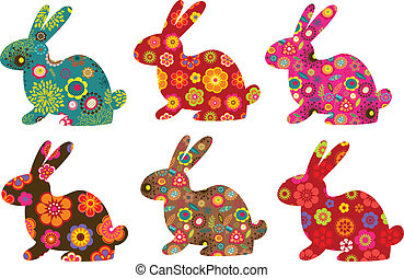 modelé, lapins