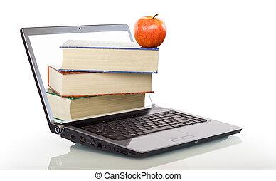 moderne, education, apprentissage, ligne