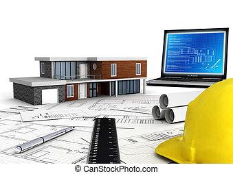 moderne, emmagasiner construction