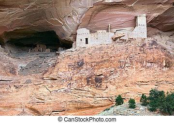momie, caverne, canyon, del, muerto, ruines