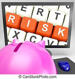moniteur, clés, projection, risques, investissement, risque