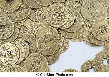 monnaie, pièces, vieux, affaires asiatiques