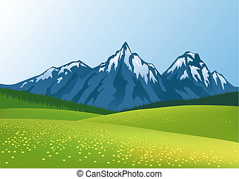 montagne, fond
