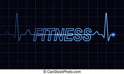 mot, électrocardiogramme, fitness