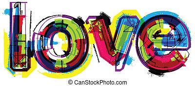 mot, amour, artistique
