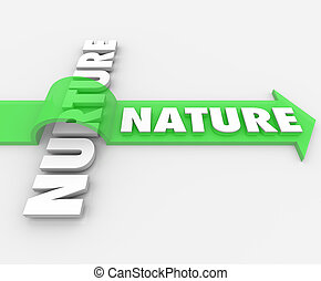 mot, nature, sur, héréditaire, sauter, flèche, génétique, nourrir