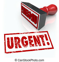 mot, urgence, timbre, requis, immédiat, urgent, action
