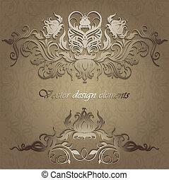 motifs, seamless, fond, élégant