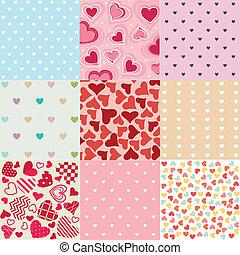 motifs, valentine, seamless, jour