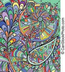 multicolore, floral, fond, résumé
