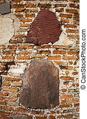 mur, ancien, bâtiment