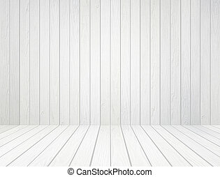 mur, blanc, bois, fond, plancher