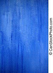 mur bleu, grunge, texture, fond