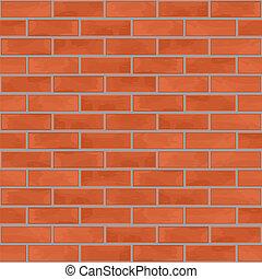 mur, brique, seamless, fond