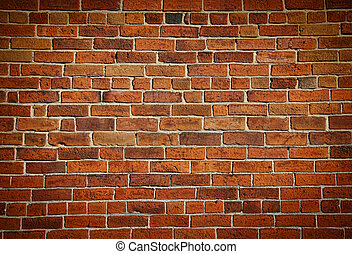 mur, brique, taché, vieux, a mûri