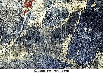 mur, fissures, vieux, stuc, texture
