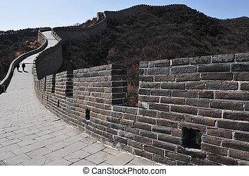 mur, grand, porcelaine