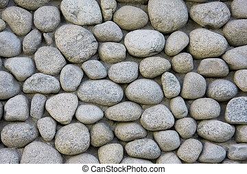mur, pierre, rivière, texture