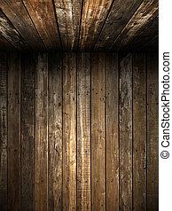 mur, vieux, plafond, bois, grunge