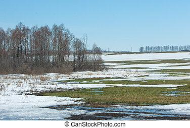 neige, printemps, hiver, dernier