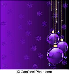 noël, violet, couleurs