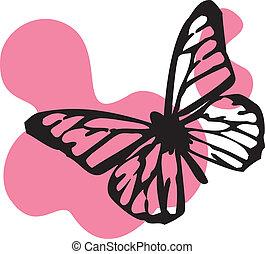 noir, papillon