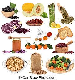 nourriture saine, échantillonneur
