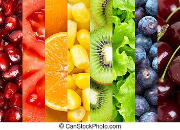 nourriture saine, fond