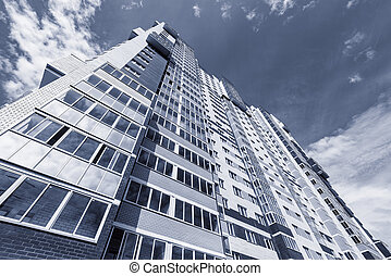 nouveau, appartement, extérieur, bâtiment.