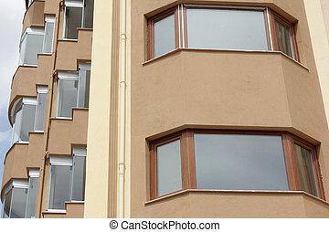 nouveau, appartement, résidentiel, ville, bâtiments