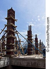 nouveau, construction, bâtiment.