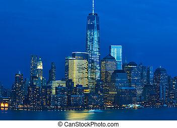 nouveau, horizon, ville, manhattan, york
