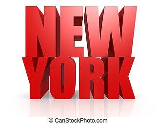 nouveau, mot, york