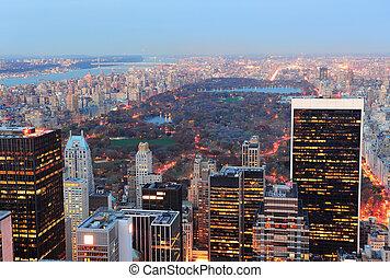 nouveau, parc ville, central, york