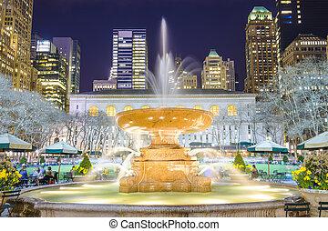 nouveau, parc, york, bryant, ville