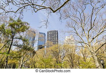 nouveau, parc, york, ville
