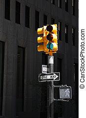 nouveau, passage clouté, york, ville