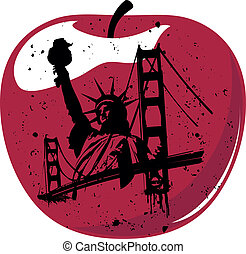 nouveau, pomme, grand, york