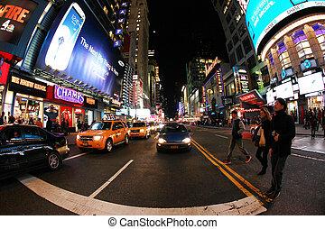 nouveau, temps, york, square., ville