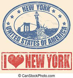 nouveau, timbres, york
