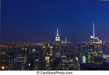 nouveau, ville, aérien, york, vue