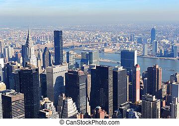 nouveau, ville, gratte-ciel, york