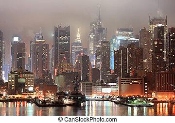 nouveau, ville, manhattan, york