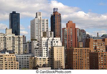nouveau, ville, york