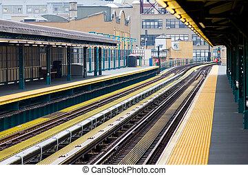 nouveau, ville, york, métro