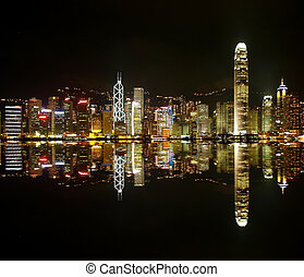 nuit, hongkong, horizons