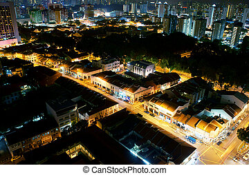 nuit, vue ville