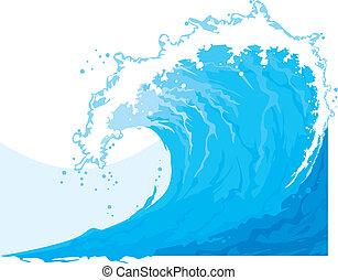 (ocean, wave), mer, vague