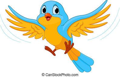 oiseau vole